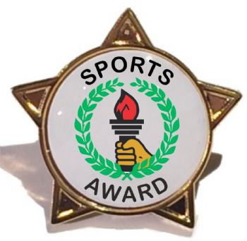 SPORTS AWARD star badge
